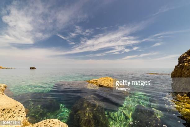 the crystal clear Mediterranean Sea