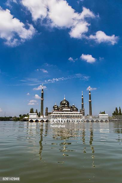 the crystal mosque or masjid kristal - crystal mosque stock pictures, royalty-free photos & images