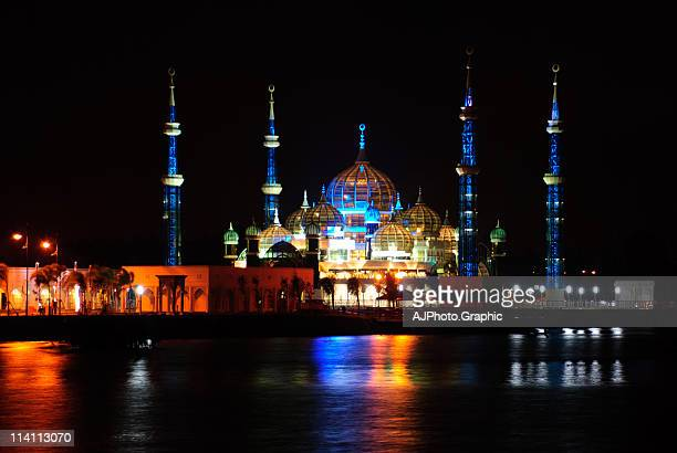 the crystal mosque - crystal mosque stock pictures, royalty-free photos & images