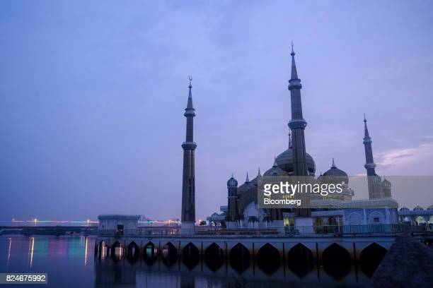 The Crystal Mosque stands at dawn in Kuala Terengganu Terengganu Malaysia on Tuesday July 25 2017 With a federal election due within 12 months Prime...
