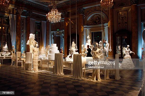 the Crystallized Swarovski Elements Unbridaled Launch Party during Paris Fashion Week SpringSummer 2008 on January 23th at Hotel de la Monnaie in...