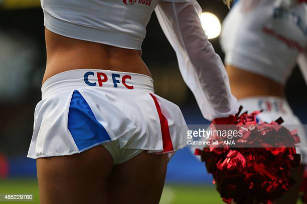The Crystals cheerleaders of Crystal Palace before the Capital One Cup match between Crystal Palace and Shrewsbury Town at Selhurst Park on August 25...