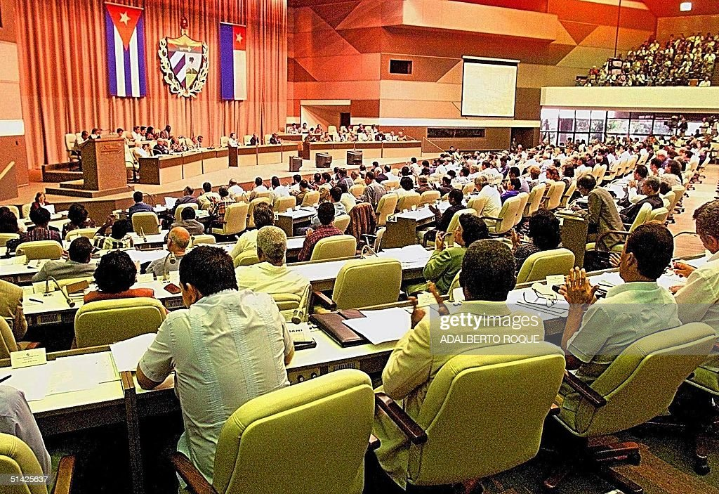 The Cuban parliament in Havana discusses the situa : Foto di attualità