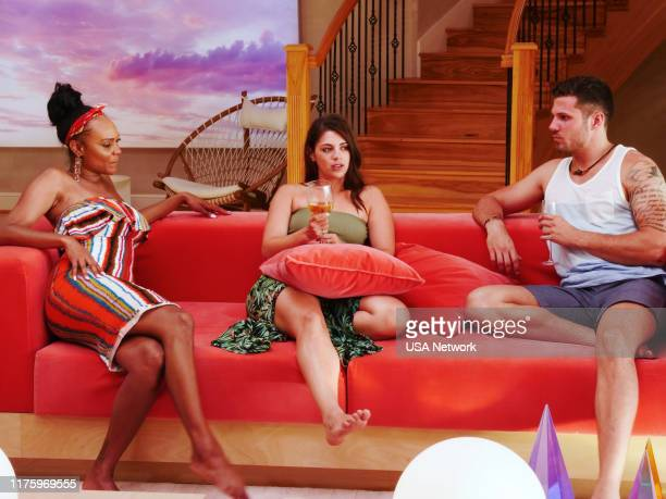 ISLAND The Cuffs Are Off Episode 202 Pictured Esonica Veira Ashley Howland Ben Knobloch