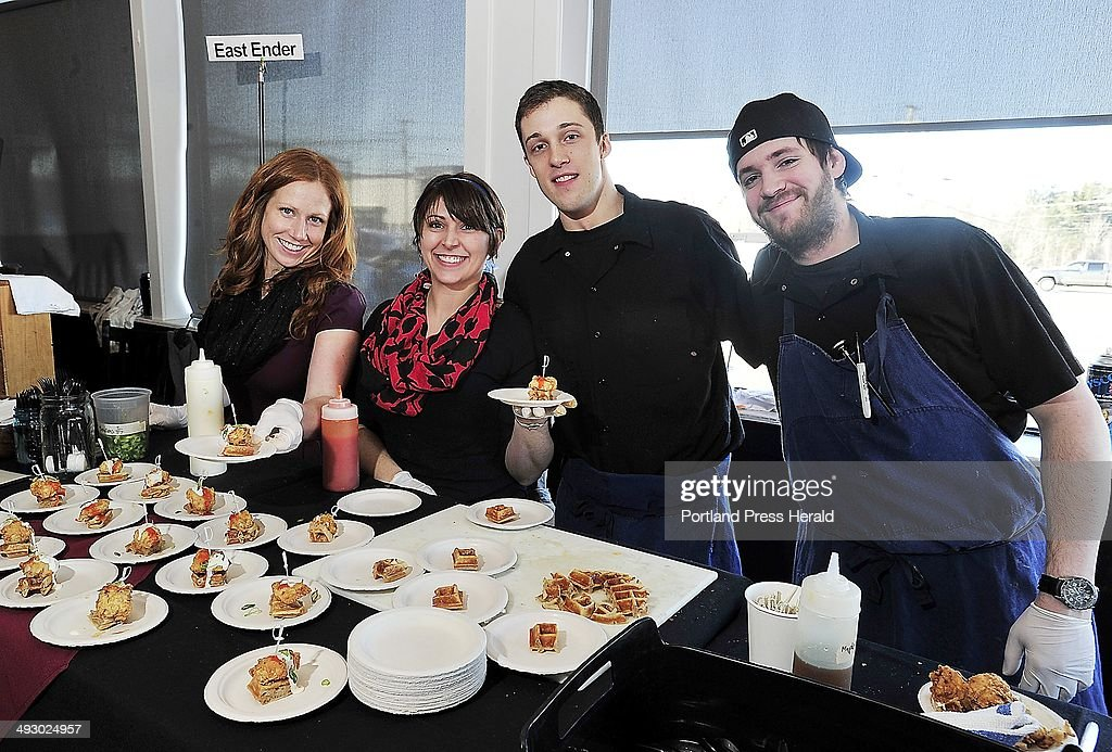 SOUTH PORTLAND, ME - FEBRUARY 28: The culinary staff at East Ender, from left, Megan Schroeter, Eliz : News Photo