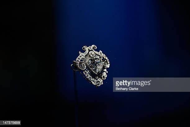 The Cullinan V brooch on display in the Diamonds: A Jubilee Celebration exhibition which forms part of the summer opening of Buckingham Palace on...