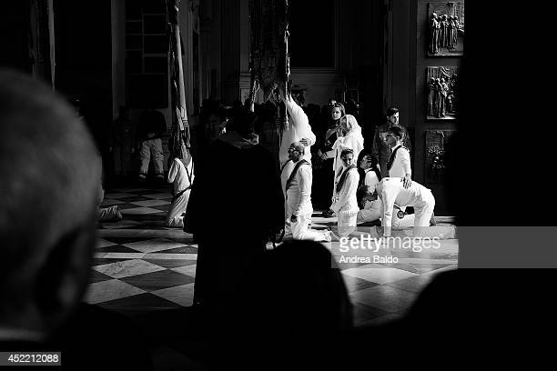 The cult of Madonna dell'Arco is one of the most ancient religious event in Souther Italy The penitents all over the province of Naples lead by feet...