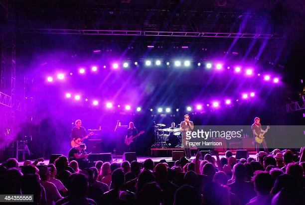 The Cult performs onstage during day 1 of the 2014 Coachella Valley Music Arts Festival at the Empire Polo Club on April 11 2014 in Indio California