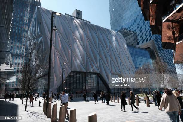 The cultural space The Shed stands in Hudson Yards on April 03 2019 in New York City With aims to be the world's most flexible and inclusive cultural...