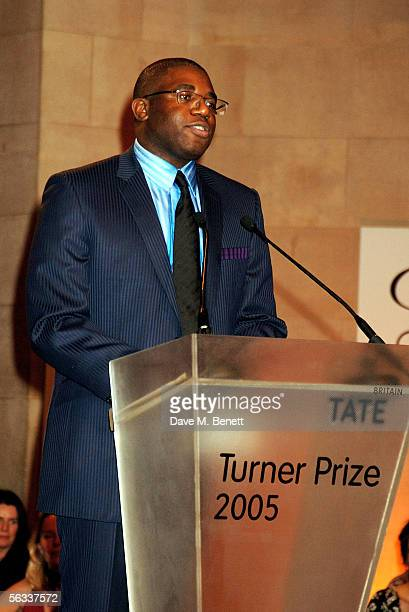 The culture minister David Lammy presents the Turner Prize 2005 at Tate Britain on December 5 2005 in London England David Lammy hosts this year's...