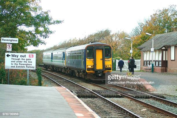 The Cumbrian Coast services are a lifeline to the scattered local communities as shown at Ravenglass as passengers wait to board the approaching...
