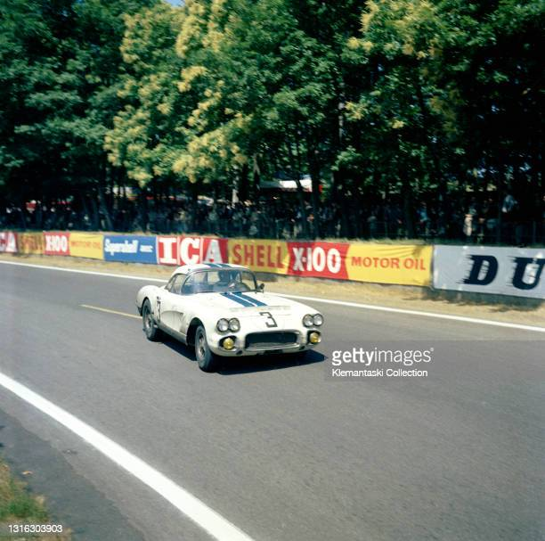 The Cunningham-entered Chevrolet Corvette of John Fitch and Bob Grossman, they would finish eighth, Le Mans 24 Hours.