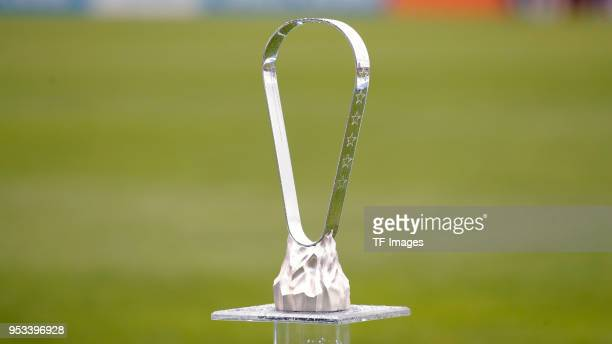 The Cup is seen prior to the UEFA Youth League Final match between Chelsea FC and FC Barcelona at Colovray Sports Centre on April 23 2018 in Nyon...