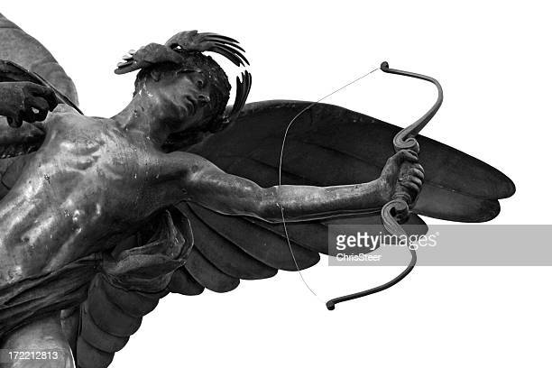 the cupid eros statue in piccadilly circus, london - cupid stock pictures, royalty-free photos & images