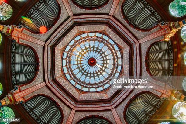 The cupola of the Kiosco Morisco (Moorish Kiosk) - Mexico City, Mexico