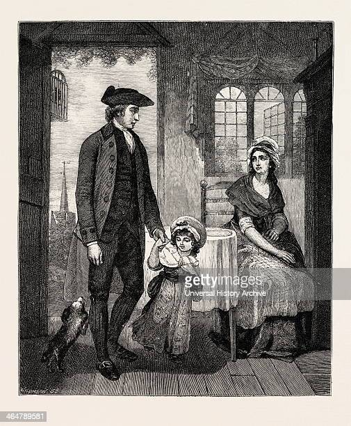 The Curate Of The Parish Returned From Duty Engraving 1884 UK Britain British Europe United Kingdom Great Britain European