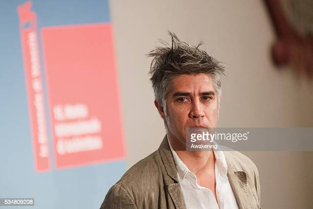 The curator Alejandro Aravena attends at the official opening ceremony of the 15th Biennale of Architecture on May 28 2016 in Venice Italy The 15th...