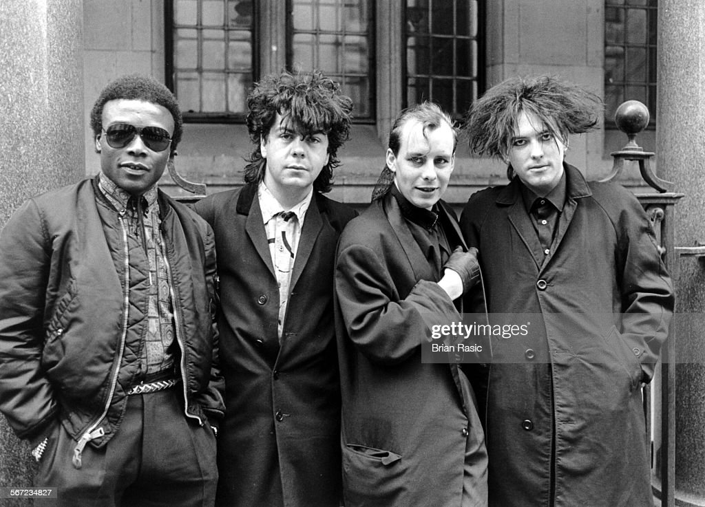 "The Cure - Clifford Leon Anderson, Lol Tolhurst, Paul ""Porl"" Thompson And Robert Smith - 1984 : News Photo"
