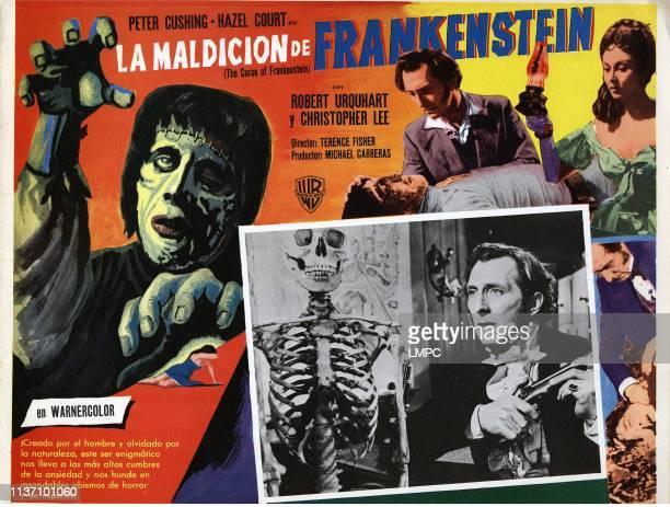 The Curse Of Frankenstein lobbycard Peter Cushing Christopher Lee Hazel Court poster art 1957