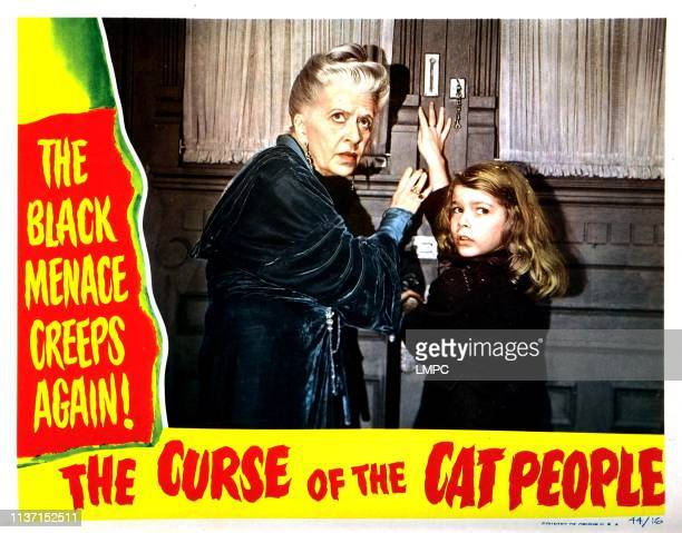 The Curse Of The Cat People, lobbycard, from left, Julia Dean, Ann Carter, 1944.