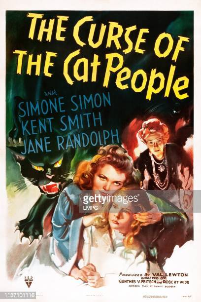 The Curse Of The Cat People, poster, US poster art, Simone Simon, Ann Carter, Julia Dean, 1944.
