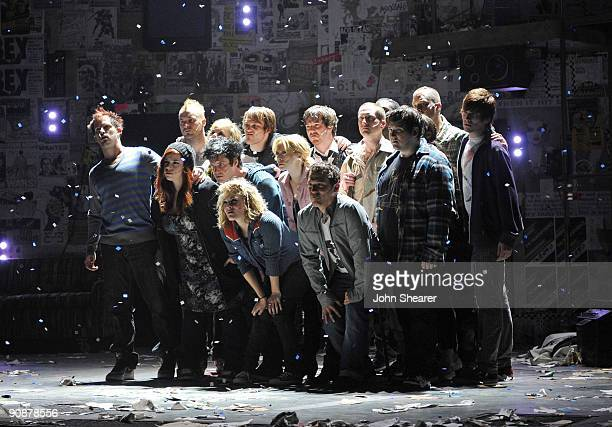 The curtain call for the World Premiere of Green Day's American Idiot Hosted By Levi's at the Tony Award winning Berkeley Repertory Theatre on...