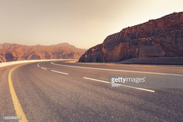 the curve,  ras al-khaimah, united arab emirates - ras al khaimah stock pictures, royalty-free photos & images