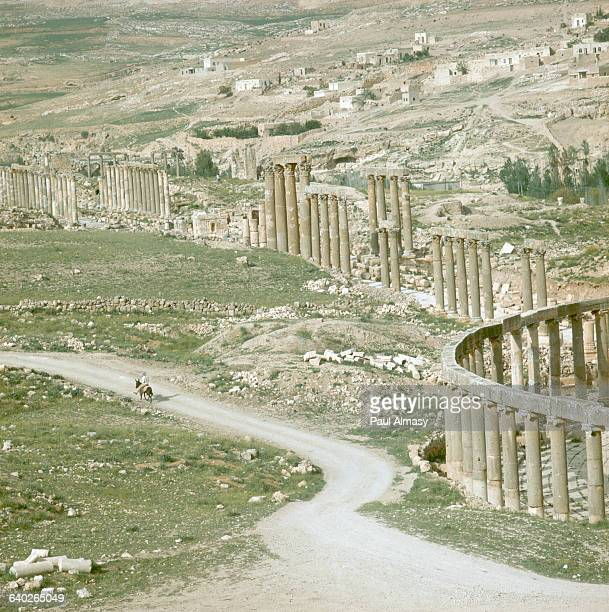 The Curved Plaza and Colonnaded Street of Jerash