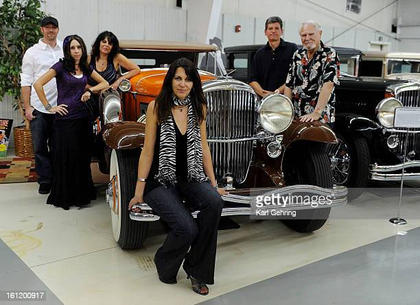The Cussler family posed for a photograph Saturday night inside the museum From left Jason Toft Amie Knutson Teri Cussler Dayna Cussler Dirk Cussler...