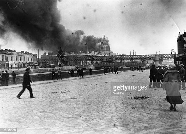 The Custom House in Dublin is captured and destroyed by the Dublin Brigade of the Irish Republican Army.
