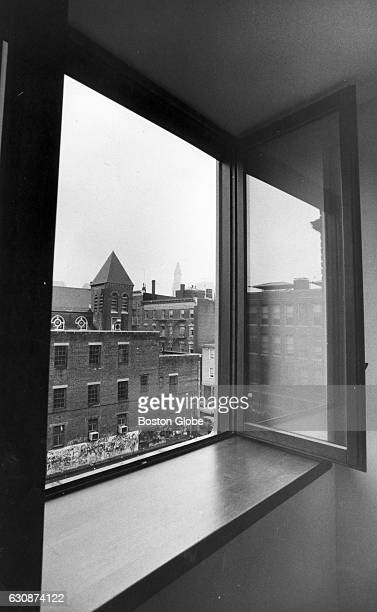 The Custom House tower can be seen from 57 Prince Street in Boston's North End on June 27 1985