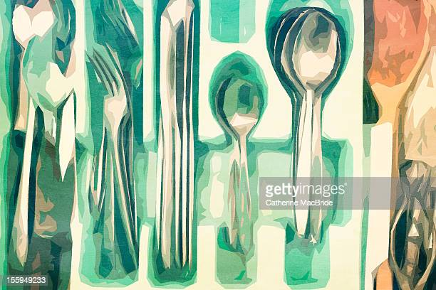 The cutlery drawer