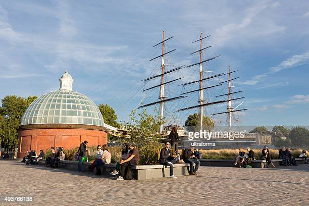 the cutty sark in greenwich, london - greenwich london stock pictures, royalty-free photos & images