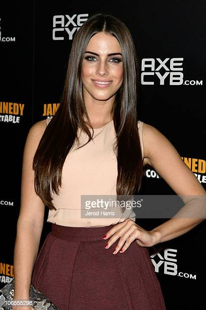 The CW's Jessica Lowndes arrives at the AXECYBcom party at Drai's Hollywood on November 4 2010 in Hollywood California