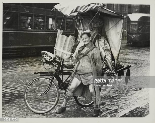 The 'Cycle Drop-Head Coupe', Sober minded citizens of Edinburgh rubbed their eyes and looked agian when they saw this strange contraption among the...