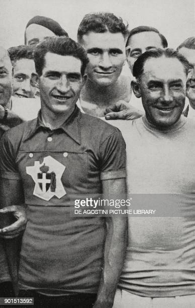 The cyclist Gino Bartali after winning the 32nd Tour de France Paris France from L'Illustrazione Italiana Year LXV No 32 August 7 1938