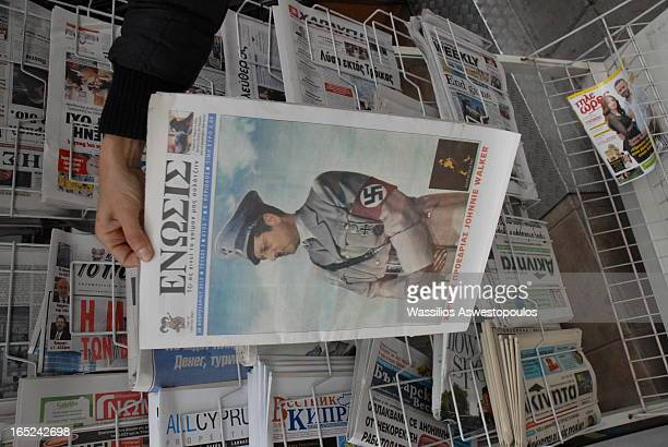 CONTENT] The Cypriot President Nikos Anastasiadis is shown by the Cypriot newspaper Enosis in the uniform of a Nazi General The publication took...