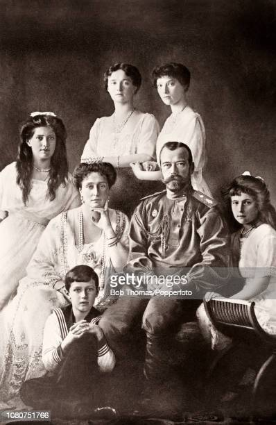 The Czar and Czarina of Russia and their family left to right Grand Duchess Marie Czarina Alexandra Czarevich Alexei Grand Duchess Olga Czar Nicholas...