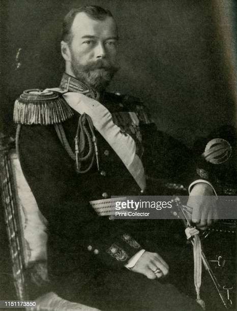 """The Czar of Russia', 1910s, . Portrait of Tsar Nicholas II of Russia . From """"The History of the Great European War: its causes and effects"""", Vol. IV,..."""