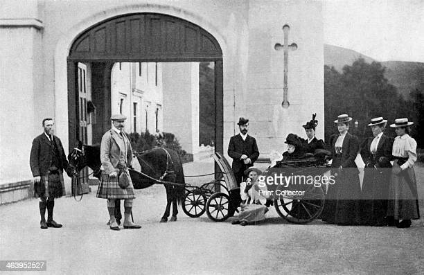 The Czars' visit to Balmoral 1896 Queen Victoria with Czar Nicholas II of Russia who was married to Victoria's granddaughter Princess Alexandra In...