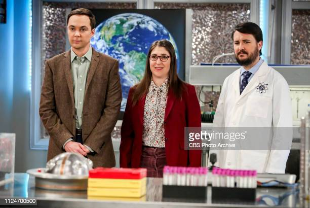 """The D & D Vortex"""" -- Pictured: Sheldon Cooper , Amy Farrah Fowler and Wil Wheaton . When the gang finds out Wil Wheaton hosts a celebrity Dungeons..."""