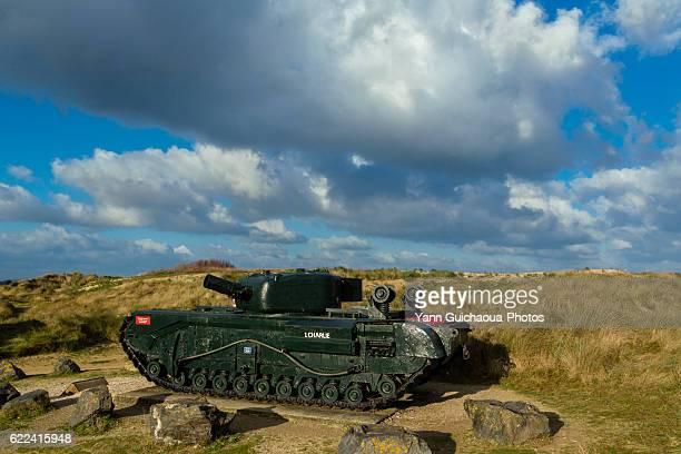 the d day,juno beach, graye sur mer, calvados, basse normandie, france - juno beach normandy stock pictures, royalty-free photos & images