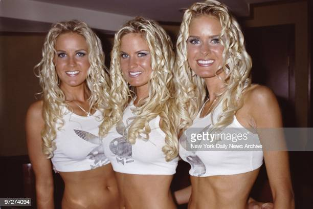 The Dahm triplets are on hand at the club Light on E 54th St to host a party plugging the September issue of Playboy magazine
