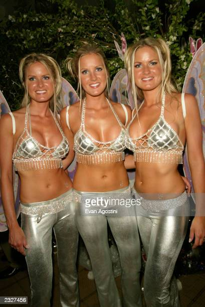 The Dahm Triplets at the Playboy's A Midsummer's Night Platinum Dream Party at the Playboy penthouse in New York City July 30 2002 Photo Evan...