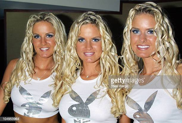 The Dahm Triplets during Playboy Celebrates Jerri Manthey in Playboy at Light in New York City at Light in New York City New York United States