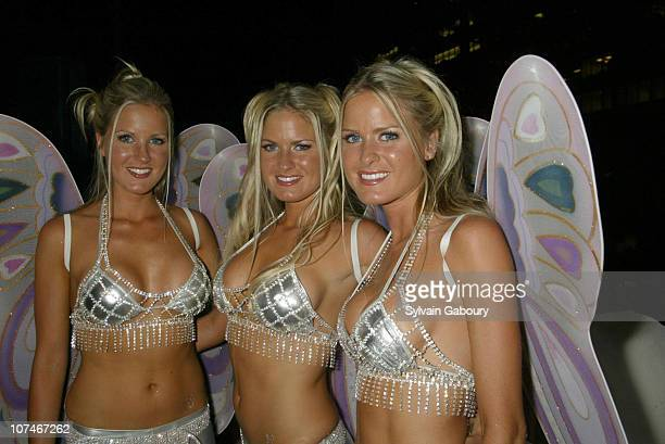 The Dahm Triplets during Playboy Michelob Light Celebrate A Midsummer's Night Platinum Dream at Playboy Bld Penthouse Rooftop in New York New York...