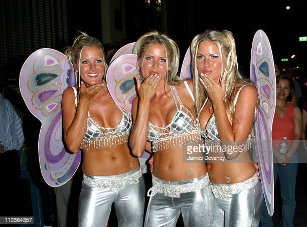Nicole Erica and Jaclyn during Playboy and Michelob Light Celebrate A Midsummer Night's Platinum Dream at Playboy in New York City New York United...