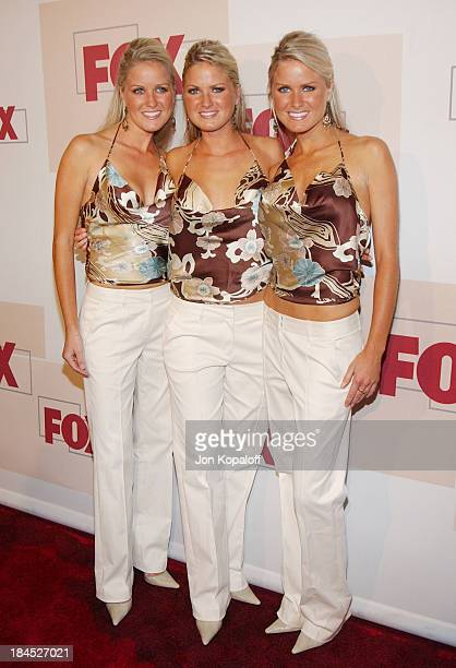 The Dahm Triplets Nicole Erica Jaclyn during 2004 Fox Fall Season Party at Central in West Hollywood California United States