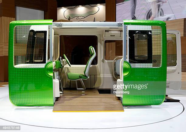 The Daihatsu Motor Co Noriori Concept vehicle stands on display at the Tokyo Motor Show in Tokyo Japan on Wednesday Oct 28 2015 Toyota Motor Corp...