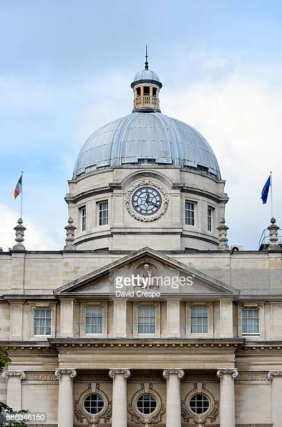 the dail government building (vertical) - dublin republic of ireland stock pictures, royalty-free photos & images